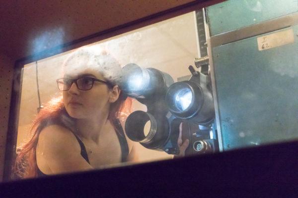 Promítačka na Letní filmové škole v Uherském Hradišti